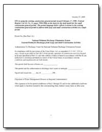 National Pollutant Discharge Elimination... by Environmental Protection Agency