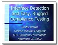 Interface Detection and Easy, Rugged Com... by Environmental Protection Agency