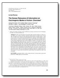 The Human Relevance of Information on Ca... by Patton, Dorothy E.