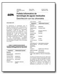 Folleto Informativo de Tecnologia de Agu... by Environmental Protection Agency