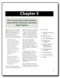 Cso Control Policy Implementation Status... by Environmental Protection Agency