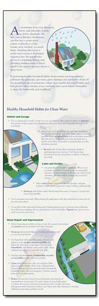 Healthy Household Habits for Clean Water by Environmental Protection Agency