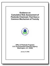 Guidance on Cumulative Risk Assessment o... by Environmental Protection Agency