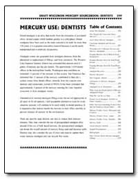 Mercury Use : Dentists by Environmental Protection Agency
