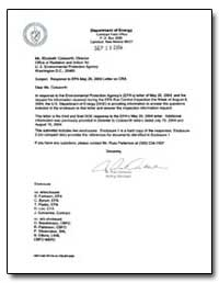 Subject : Response to Epa May 20, 2004 L... by Detwiler, R. Paul