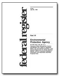 Part Vi United States Environmental Prot... by Environmental Protection Agency