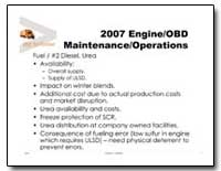 2007 Engine/Obd Maintenance/Operations by Environmental Protection Agency