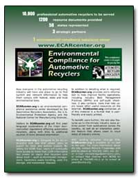 Environmental Compliance for Automtive R... by Environmental Protection Agency