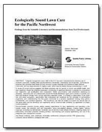 Ecologically Sound Lawn Care for the Pac... by Mcdonald, David K.