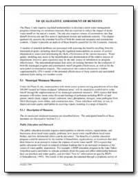 5. 0 Qualitative Assessment of Benefits by Environmental Protection Agency