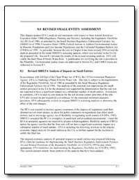 8. 0 Revised Small Entity Assessment by Environmental Protection Agency