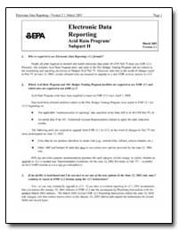 Electronic Data Reporting Acid Rain Prog... by Environmental Protection Agency