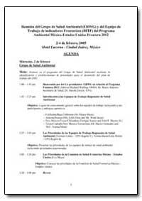 Reunion Del Grupo de Salud Ambiental (Eh... by Environmental Protection Agency