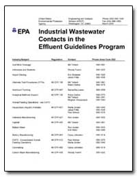 Industrial Wastewater Contacts in the Ef... by Environmental Protection Agency