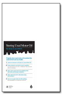 Storing Used Motor Oil by Environmental Protection Agency