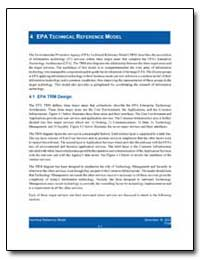4 Epa Technical Reference Model by Environmental Protection Agency