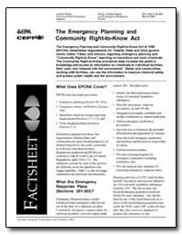 The Emergency Planning and Community Rig... by Environmental Protection Agency