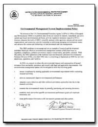 United States Environmental Protection A... by Lyon, John G.