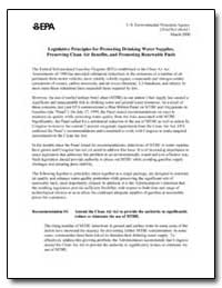 Legislative Principles for Protecting Dr... by Environmental Protection Agency