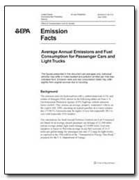 Average Annual Emissions and Fuel Consum... by Environmental Protection Agency