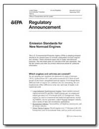 Emission Standards for New Nonroad Engin... by Environmental Protection Agency