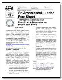 Environmental Justice Fact Sheet by Environmental Protection Agency