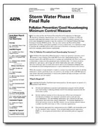 Storm Water Phase II Final Rule by Environmental Protection Agency