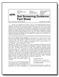 Soil Screening Guidance : Fact Sheet by Environmental Protection Agency
