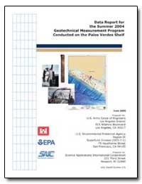 Data Report for the Summer 2004 Geotechn... by Environmental Protection Agency