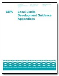 Local Limits Development Guidance Append... by Environmental Protection Agency