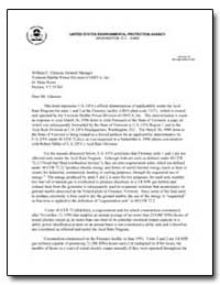 United States Environmental Protection A... by Mclean, Brian J.