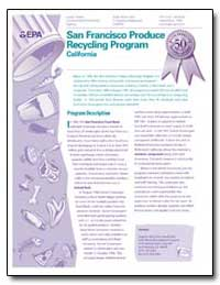 San Francisco Produce Recycling Program by Environmental Protection Agency