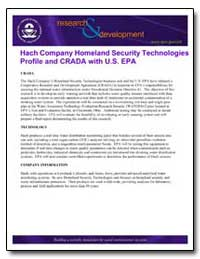 Hach Company Homeland Security Technolog... by Environmental Protection Agency