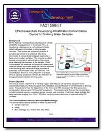 Epa Researchers Developing Ultrafiltrati... by Environmental Protection Agency