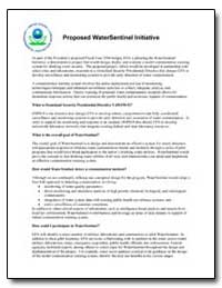 Proposed Watersentinel Initiative by Environmental Protection Agency