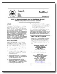 Epa to Begin Construction on Remedial Ac... by Environmental Protection Agency