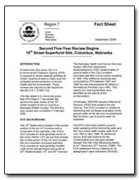 Second Five-Year Review Begins 10Th Stre... by Environmental Protection Agency