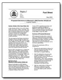 Proposed Decisions on Missouris 2002 Sec... by Environmental Protection Agency