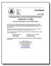 Proposed Plan Comment Period Extended to... by Environmental Protection Agency