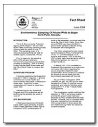 Environmental Sampling of Private Wells ... by Environmental Protection Agency