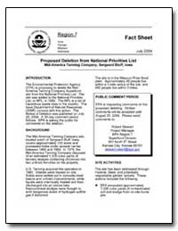 Proposed Deletion from National Prioriti... by Environmental Protection Agency