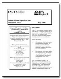 Nahant Marsh Superfund Site Davenport, I... by Environmental Protection Agency