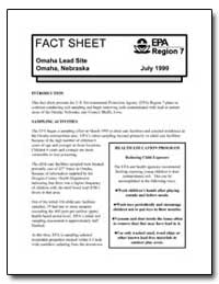 Omaha Lead Site Omaha, Nebraska by Environmental Protection Agency