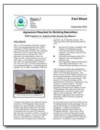 Agreement Reached for Building Demolitio... by Environmental Protection Agency