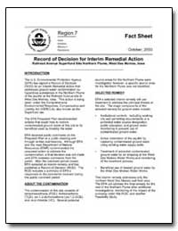 Record of Decision for Interim Remedial ... by Environmental Protection Agency