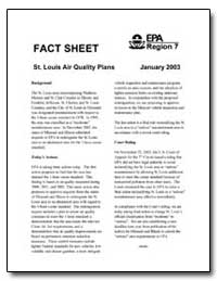 Fact Sheet-St. Louis Air Quality Plans J... by Environmental Protection Agency