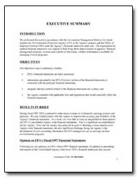 Executive Summary by Environmental Protection Agency