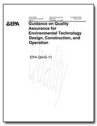 Guidance on Quality Assurance for Enviro... by Environmental Protection Agency