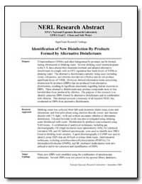 Identification of New Disinfection By-Pr... by Richardson, Susan