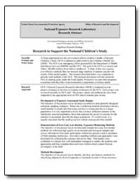 Research to Support the National Childre... by Robertson, Gary L.